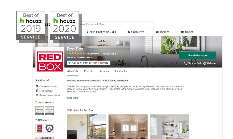 Houzz Award - Redbox