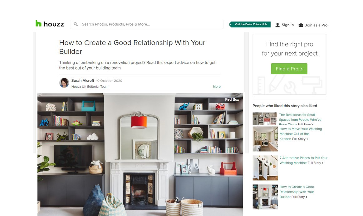 Houzz - Redbox Article